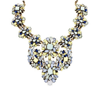 "Joan Rivers Opalescent Clusters 18"" Statement Necklace - J296746"