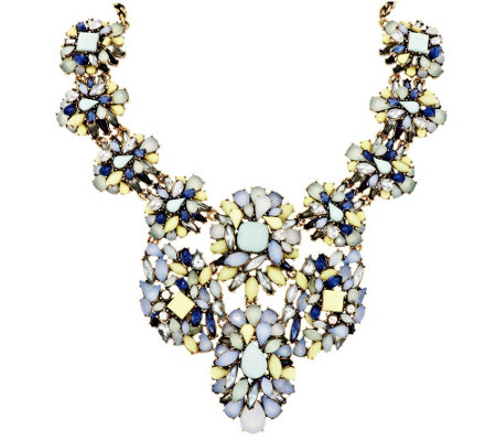 "Joan Rivers Opalescent Clusters 18"" Statement Necklace"