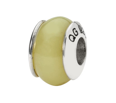 Prerogatives Sterling Yellow Jade Gemstone Bead