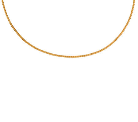 "Veronese 18K Clad 24"" Tubular Chain Necklace"