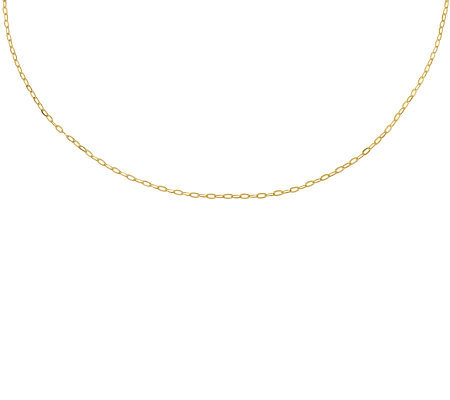 "Milor 18"" Polished Cable Chain, 14K Gold"