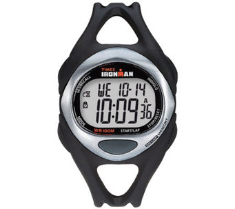 Timex Unisex Black Ironman 50-Lap Watch w/ Indiglo - J308846
