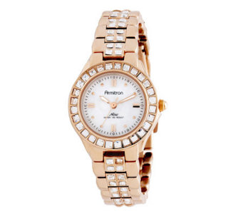 Armitron Women's NOW Swarovski Accent RosetoneDress Watch - J310746