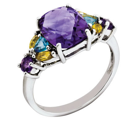 3.00ct tw Multi-gemstone Sterling Ring