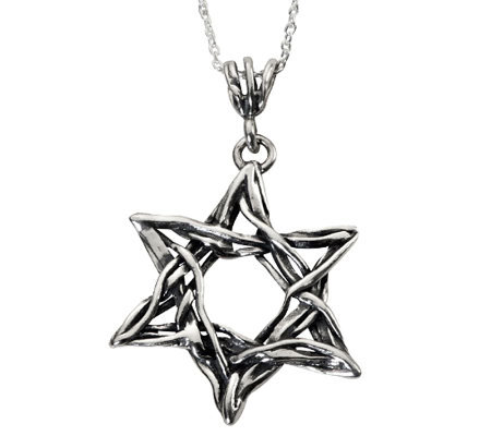Or Paz Sterling Star of David Pendant with Chain