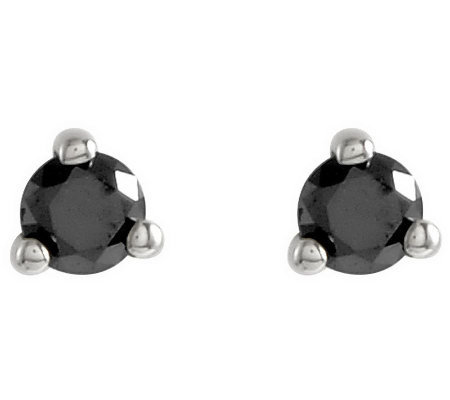 Black Diamond Stud Earrings, 14K Gold, 1/4 cttwby Affinity