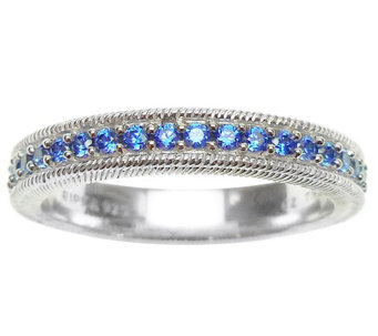 Judith Ripka Sterling Diamonique Eternity BandRing - J314146