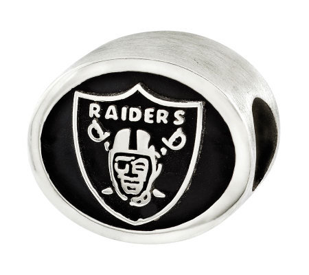 Sterling Oakland Raiders NFL Bead