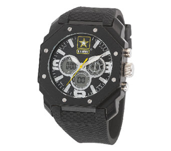 Wrist Armor Men's U.S. Army C28 Black & White Watch - J316346