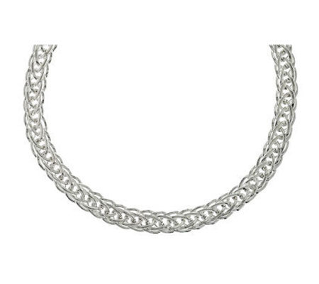 """As Is"" Sterling 18"" Bold Polished Woven Necklace 35.6g"