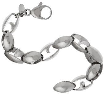 Stainless Steel Bold Polished Link Bracelet - J319646