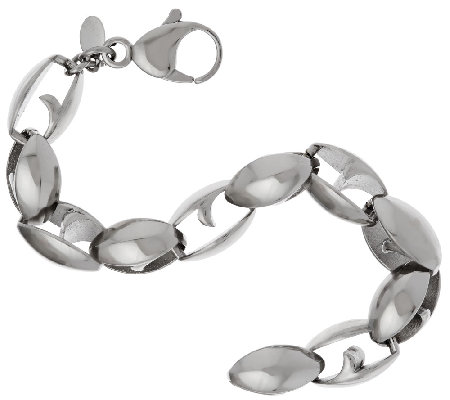 Stainless Steel Bold Polished Link Bracelet
