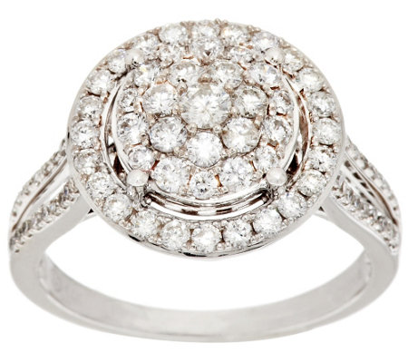 """As Is"" Cluster Halo Diamond Ring, 14K Gold 1.00 ct tw by Affinity"