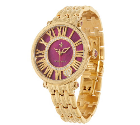 Judith Ripka Stainless Steel Goldtone London Watch