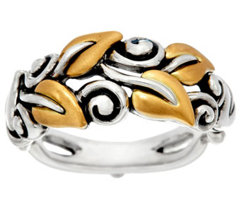 Barbara Bixby Sterling & 18K Yellow Gold Vine Ring - J329946