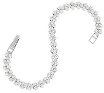 """As Is"" Diamonique 4.95 cttw Tennis Bracelet Sterl. or 14K Clad - J333046"