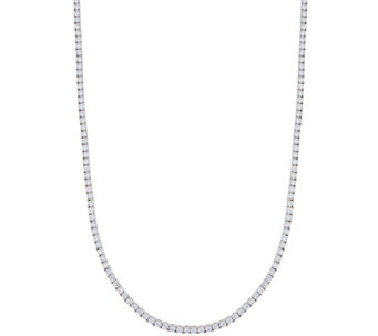 TOVA Diamonique Tennis Necklace, Sterling - J333646