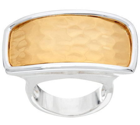 RLM Bronze Two Tone Hammered Rectangle Ring