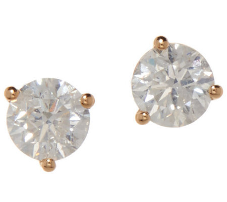 Diamond Stud Earrings, 7/10 cttw, 14K Gold, by Affinity