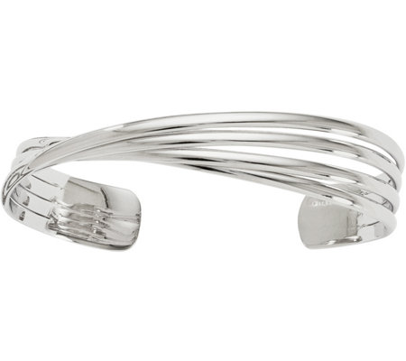 Sterling Twisted Cuff Bangle, 24.6g