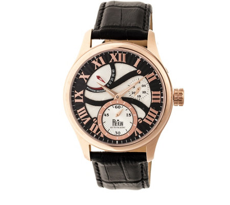 Reign Bhutan Automatic Watch - Rosetone/Black