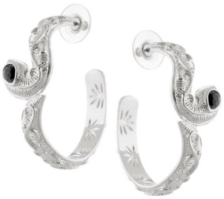 Luxe Rachel Zoe Slinky Snake Hoop Earrings