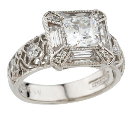 Tacori IV Diamonique Epiphany Art Deco Inspired Ring