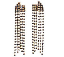 Janie Bryant MOD Crystal Chain Drop Earrings - J156147