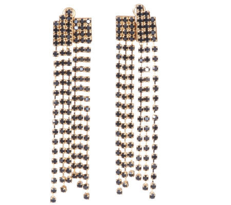 Janie Bryant MOD Crystal Chain Drop Earrings