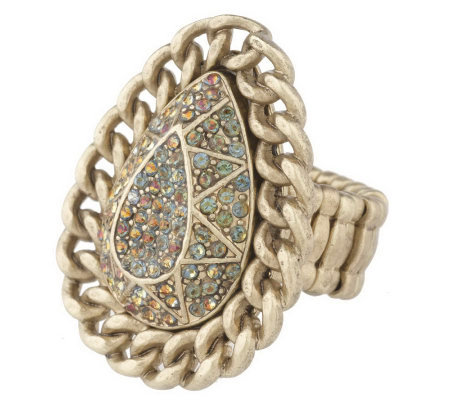 Wildlife by Heidi Klum Pave' & Curb Link Stretch Ring