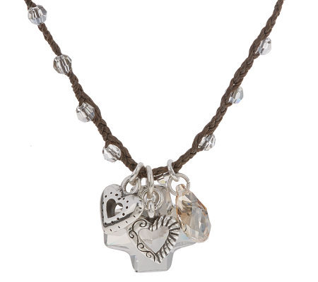 Brighton Karma Collection Smoky Crystal Necklace