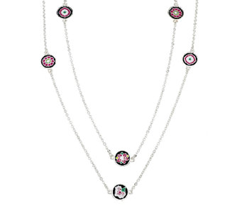 Vera Bradley Dainty Chain Station Necklace - J291347