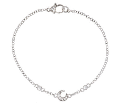 "Judith Ripka Sterling Diamonique Moon 9"" Anklet"