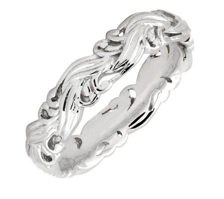Simply Stacks Sterling Polished Scroll Ring