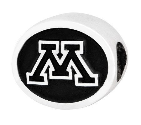 Sterling Silver University of Minnesota Bead