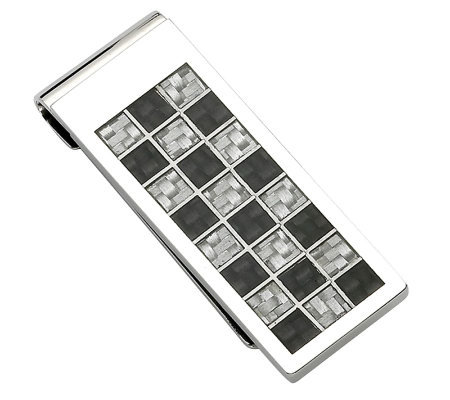Forza Stainless Steel Black and Gray Money Clip