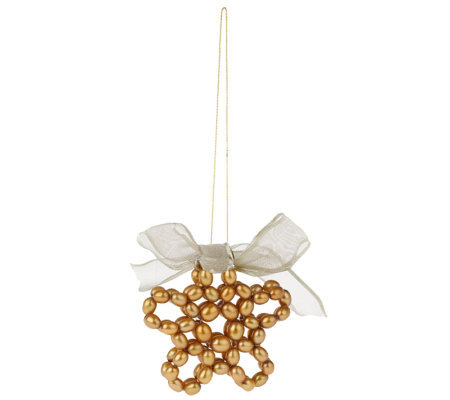 Honora Cultured Pearl Openwork Star Ornament