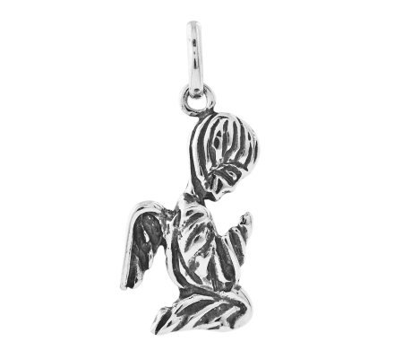 Sterling Kneeling Angel Pendant