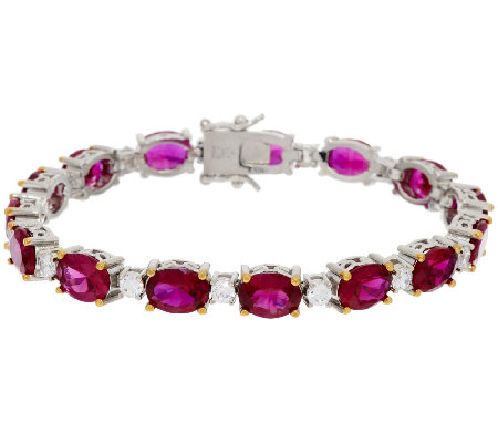The Elizabeth Taylor 12.0cttw Perfect Love Simulated Ruby Tennis Bracelet