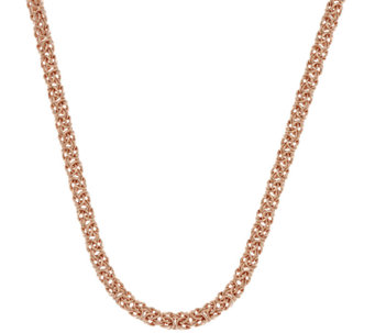 "Bronze 18"" Polished Byzantine Necklace by Bronzo Italia - J323047"