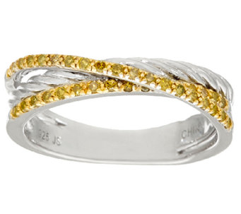 Double Row Rope Design Diamond Band Ring, Sterling, 1/4 cttw, Affinity - J324547