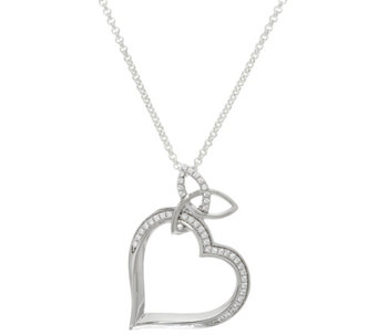 "Solvar Sterling Silver Trinity Knot Heart Pendant with 24"" Chain - J328447"