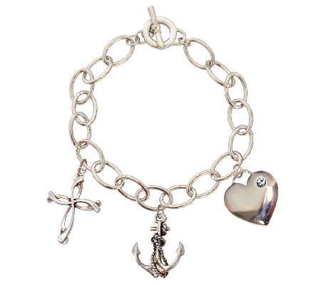 Catherine Galasso Faith, Hope, and Love Charm Bracelet