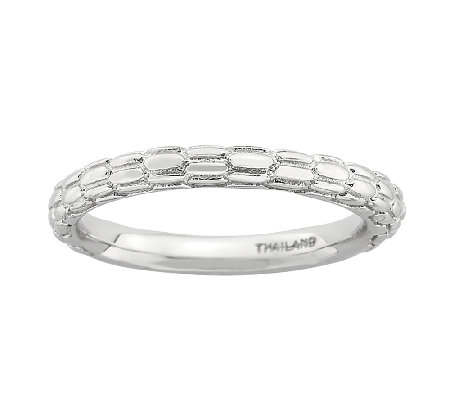 Simply Stacks Sterling Cobblestone TexturedRing