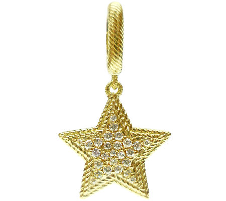 Judith Ripka Sterling & 14K Clad Diamonique Star Charm