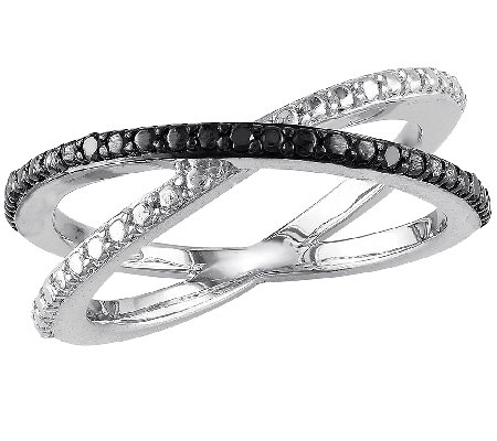 Black Diamond X Ring, Sterling, by Affinity