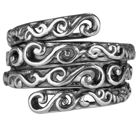Carolyn Pollack Sterling Signature Layered Ring