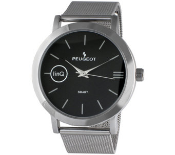Peugeot linQ Smartwatch with Mesh Band - Black - J344647