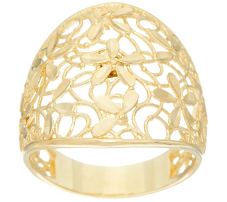 """As Is"" Dieci Lace Design Graduated Band Ring, 10K Gold"