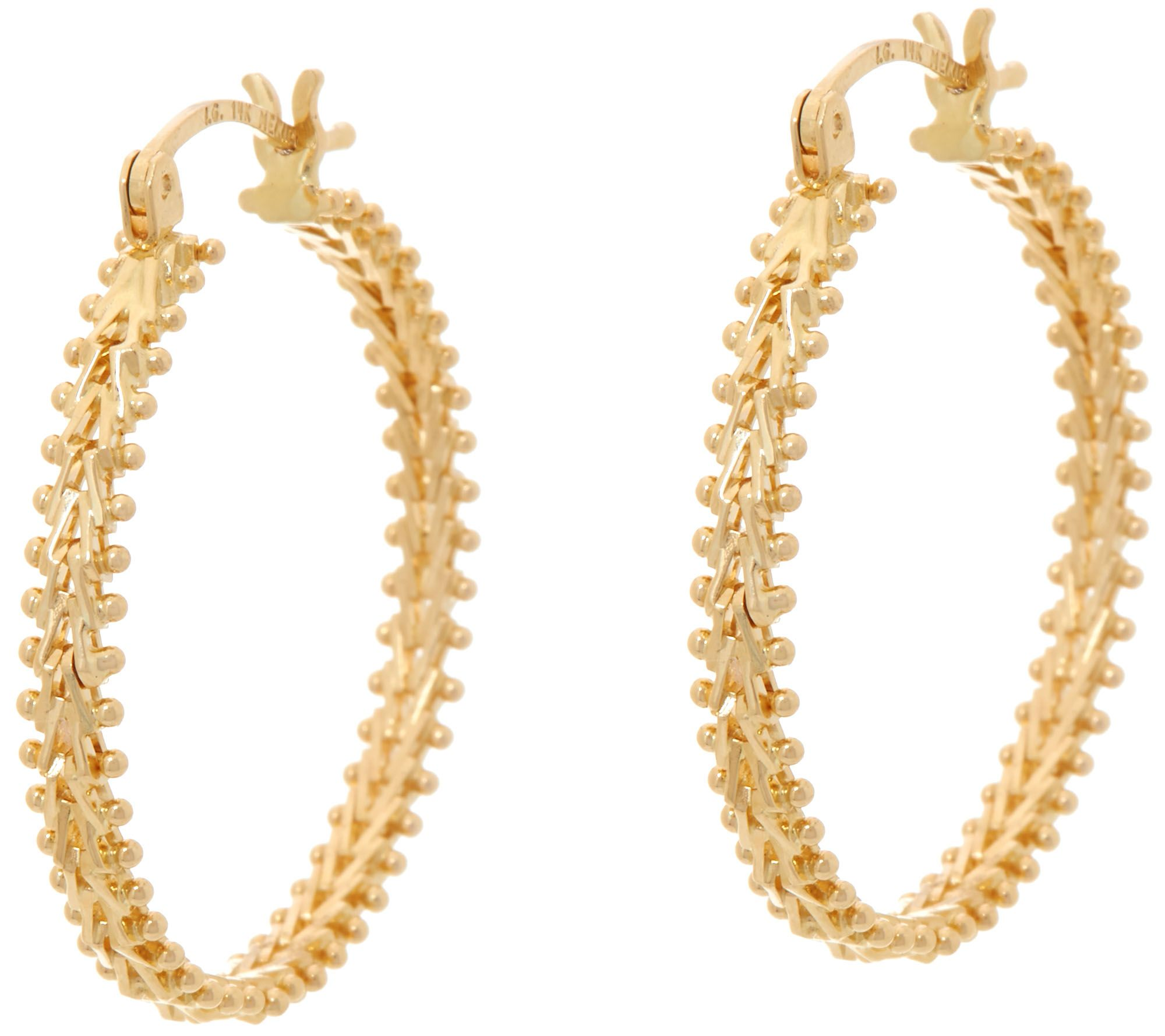 Imperial Gold Earrings Jewelry QVCcom